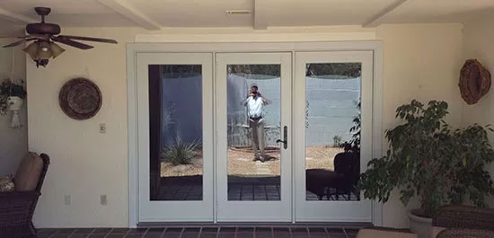 contemporary doors installation